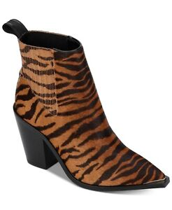 Kenneth Cole NY Memory Foam Animal-Print Booties Shoes 6.5