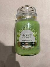 YANKEE CANDLE GRANNY SMITH 22 OZ LARGE JAR RETURNING FAVORITE