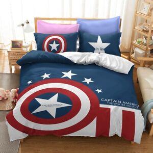 Captain America Matvel Duvet Cover Pillowcase Comforter Cover 3PCS Bedding Sets