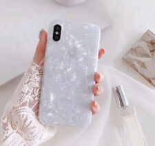 Bright Marble Shockproof Soft Shell Phone Case Cover For iphone  7 8 plus Xs Max