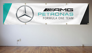 Mercedes Amg Banner Flag 240X60cm Amg Racing Team Flag Motorsports