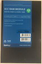Synology RackStation NAS ECC RAM Module Kit 2x 4GB RAMEC1600DDR3-4GBX2 Used