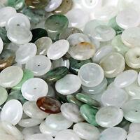 30PCS Natural Grade A Jade (Jadeite) loose Safety bead/ Size: 8.5mm (Wholesale)
