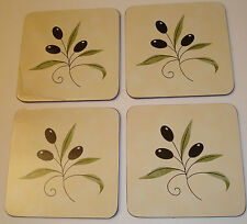 Kane Industries Corp. Olivita Set of 4 Corkback Coasters