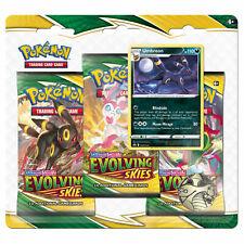 Pokemon Sword & shiield Evolving Skies 3 Pack Blister Umbreon sellado de fábrica