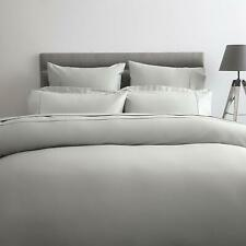 600 Thread Count 100% Cotton Sateen Emperor Bed Size Flat Sheet in Platinum Grey