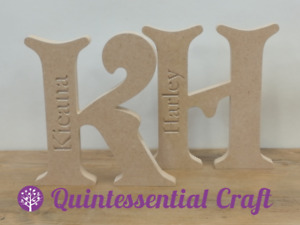 18mm thick 20cm Freestanding MDF Engraved Letters (name of choice engraved)
