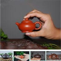 mini tea pot yixing zisha purple clay tea pet home decoration on tea tray pot