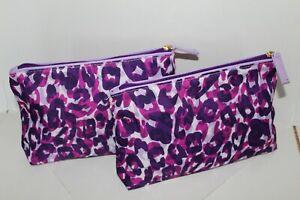 ESTEE LAUDER Clinique Lancome 2/1pc Cosmetic Purse Clutch Case Pouch Travel Bag