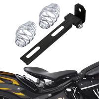 2x Motorrad Sitzfedern Schwingsattel Feder mit Solo Halterung für Harley Bobber