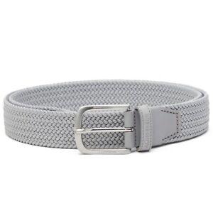 "J.LINDEBERG GOLF 2020 Men's Woven Stretch Belt, Grey, Size 28"" - 29"" Waist"