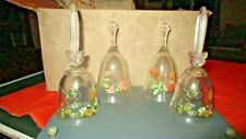 Avon 24% Full Lead Crystal Clear Glass Belles Lot of 4, will separate