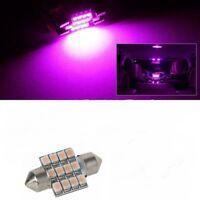 31mm Pink LED Festoon Light Bulb Car Interior Roof Globe Glove 32mm 30mm