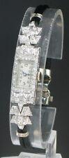 GLORIOUS VERTEX PLATINUM AND DIAMOND ART DECO LADIES COCKTAIL WATCH C1930