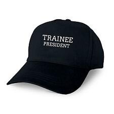 TRAINEE PRESIDENT PERSONALISED BASEBALL CAP GIFT TRAINING