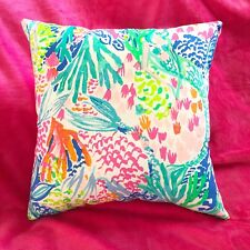 Sale! New throw pillow made with LILLY PULITZER Mermaid Cove fabric