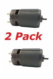 2pc 18 Volt DC Drill Master Tool RC Electric Motor 20k RPM Black Decker OEM 18v