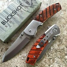 BUCKSHOT Classic Stainless Steel Spring Assisted Open Pocket Knife NEW -m