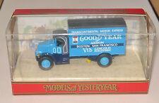 """MATCHBOX YESTERYEAR Y33 1930 MACK AC VAN """"GOOD YEAR"""" BLUE IN ORIGINAL BOX  MIB"""