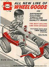 1967 ADVERT Sun Streak 500 Pedal Car Wheel Goods Twin Twister Steering Go Cart