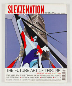 No Banksy Adidas stencil SLEAZENATION MAGAZINE July 1999 vol2 18 Steve Lazarides