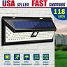 118 LED Solar Lamp Garden Yard Pathway Waterproof PIR Motion Sensor Wall Light