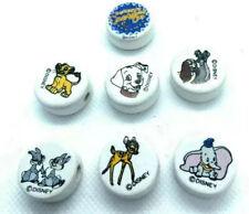 Ceramic White Disney Beads Dumbo Bambi Lady & Tramp Simba Dalmations