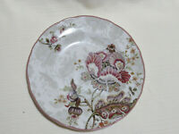 Lot of 3 222 Fifth Gabrielle RoundPlates Floral Paisley   ~ 8 3/4 in