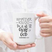 Christian Bible Verse Coffee Mug Inspirational Gift For Her Gift For Mom Mug