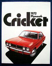 Prospekt brochure 1972 Plymouth Cricket  (USA)