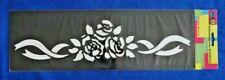 Wandtattoo  Wand gestalten Schablonen selbstklebend Rosen 40 x 13 cm