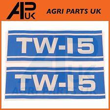 Ford New Holland TW15 Tractor Hood Bonnet Decal Sticker Set Kit Emblem Transfers