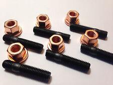 5 Stück Kupfermutter M8 hochfest +Stehbolzen M8x40 hochfest 10.9,Turbo Krümmer