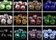 500pcs 8mm loose DIY strand Mixed Faceted Rondelle Glass Crystal Beads spacer