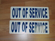 OUT OF SERVICE Magnetic signs 4 Truck EMS Fire Ambulance Tow Truck 18 Wheeler