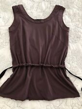 MARNI Sleeveless Gathered Purple Scoop Neck Top Size M / US8/ IT44