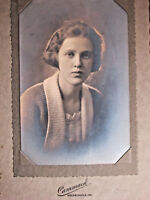 Beautiful Young Woman Teen Early 1900s Photo Folded Frame Greencastle Indiana