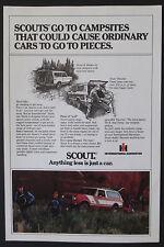 International Scout Original Full Page 1979 Vintage Ad