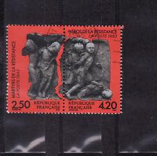 paire martyrs de la résistance   1993  num: 2813/14  oblitéré /6