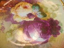 Limoges Coronet France Signed Rose Plate