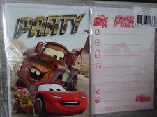 5 Einladungskarten inkl.Umschläge--Disney Cars -- Party--Kinder Geburtstag-(2)