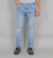 New Levis Mens 505 C 0000 Slim Fit Light Wash Distressed Denim Jeans Sz 30 x 32