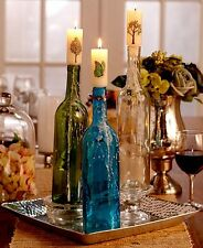 New listing 6-Wine Bottle Cork Candles ~ Butterflies & Trees Design ~S/6~ Gift Idea ~ Nib