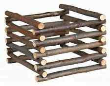 Heuraufe zum Aufstellen, Naturholz Raufe Nager 15x11x15 cm