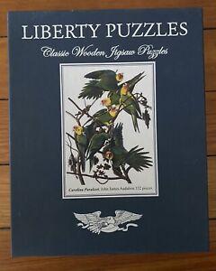 Liberty Classic Wooden Jigsaw Puzzle: Carolina Parakeet, John James Audubon