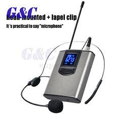 With headset + collar clip wireless microphone computer teacher collar