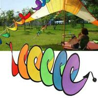 New Camping Tent Foldable Rainbow Spiral Windmill Wind Spinner Home Decor Sale F