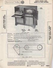1951 ZENITH H880 CONSOLE RADIO SERVICE MANUAL H880R PHOTOFACT SCHEMATIC REPAIR