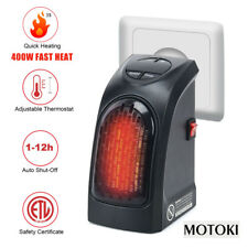 400W UK Plug-In Mini Space Heater Portable Electric Wall-outlet Furnace Radiator