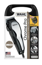 WAHL Chrome Pro Professional Kit CLIPPERS Men Barber Hair Cutting Tool Machine